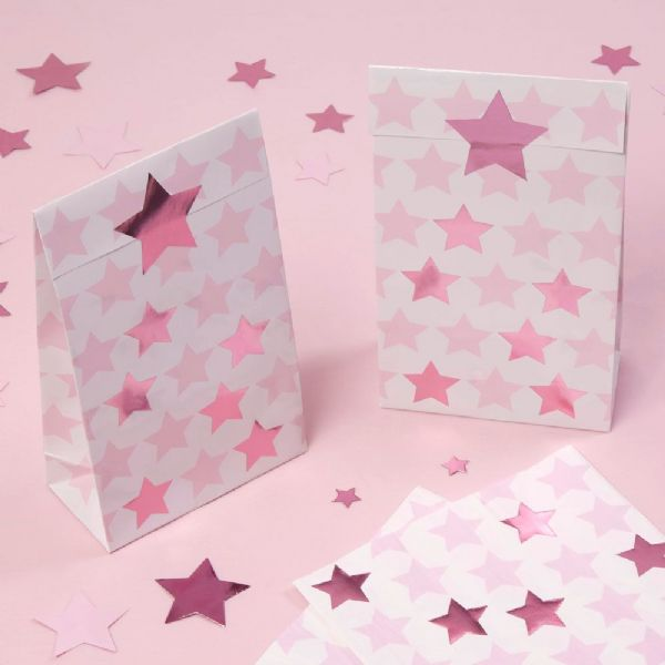 Little Stars Pink Party Bags (5)
